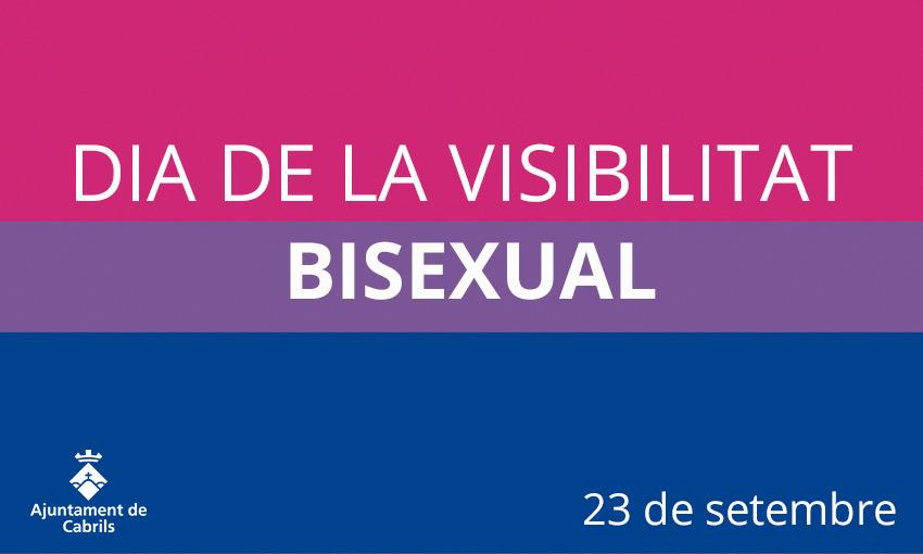 📢 Avui, 23 de setembre, commemorem el Dia de la #VisibilitatBisexual amb l'objectiu de seguir lluitant per erradicar els mites i estereotips bisexuals en l'àmbit social.  #Cabrils https://t.co/qOd0wNbx0N