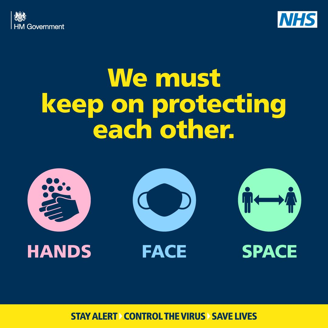 We need to keep on protecting each other, remember to wash your hands, cover your face and keep space #ControlTheVirus #WarksNorth https://t.co/tYvwJHjT7c