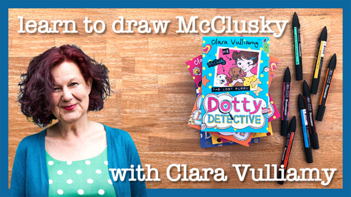 If you love Clara Vulliamy's fabulous Dotty Detective books, make sure you get over to #BookTrustHomeTime today - she's teaching us how to draw Dot's dog McClusky! Have a go here: https://t.co/uoYIy4fucr https://t.co/Dd1coQLaJj