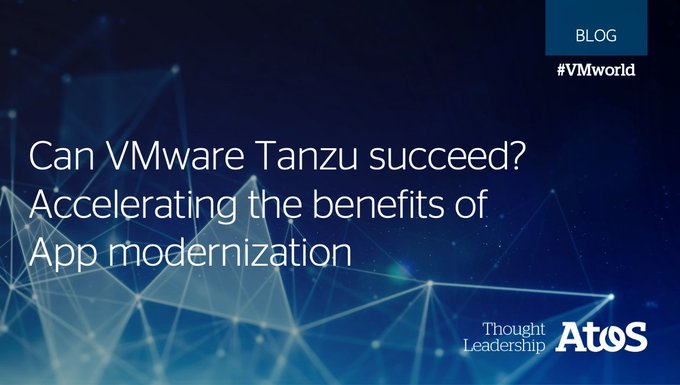 Accelerating the benefits of App modernization with Atos and VMware Tanzu. Find out more...