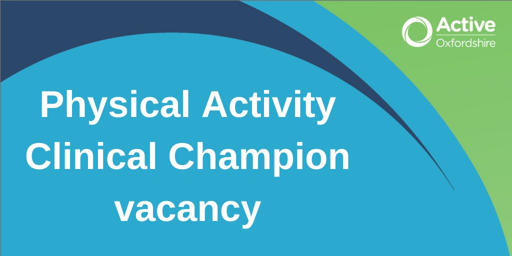 We are seeking an exceptional individual to help us promote physical activity in #Oxfordshire Are you suitably experienced primary care physician/healthcare professional able to embed physical activity into routine clinical care. @FSEM_UK @exerciseworks  https://t.co/VG1qVoT5Gk
