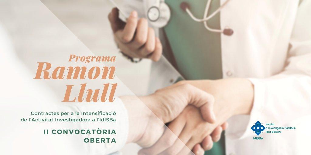 ⚠️ Demà finalitza el termini de presentació a la II Convocatòria del Programa Ramon Llull, que pretén incentivar la dedicació a la recerca dels professionals sanitaris dels centres dependents de l'@ibsalut i de @donasangbalears adscrits a l'IdISBa.   ➡️ https://t.co/gX9jhkGl4F https://t.co/lSqkkWBGQu