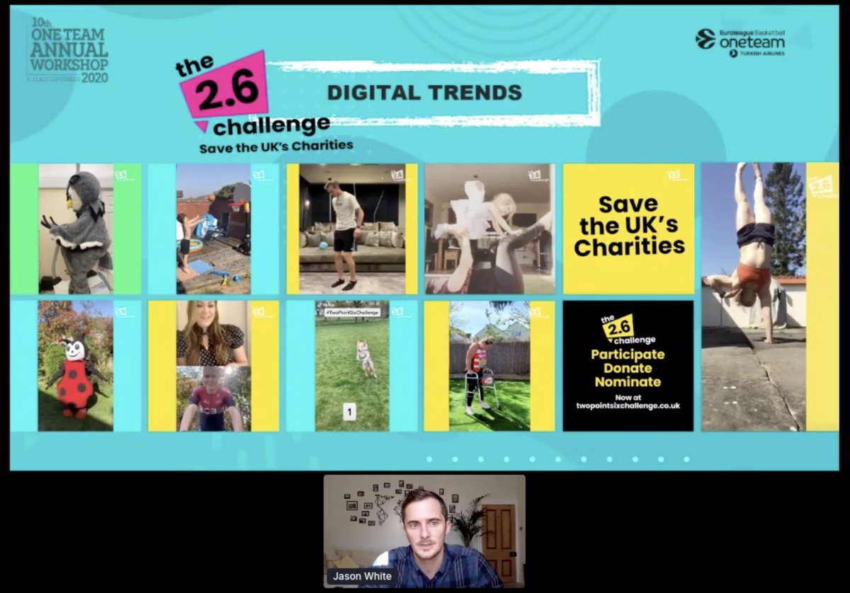 Thanks to @OTEuroleague & @WeThinkBeyond for having me yesterday, really enjoyed talking fundamentals of social media strategy and the #TwoPointSixChallenge.   The community sport sector is full of inspiring human stories, and digital represents the perfect place to tell them. https://t.co/DAwuGy5svM https://t.co/ts7UAcAib0