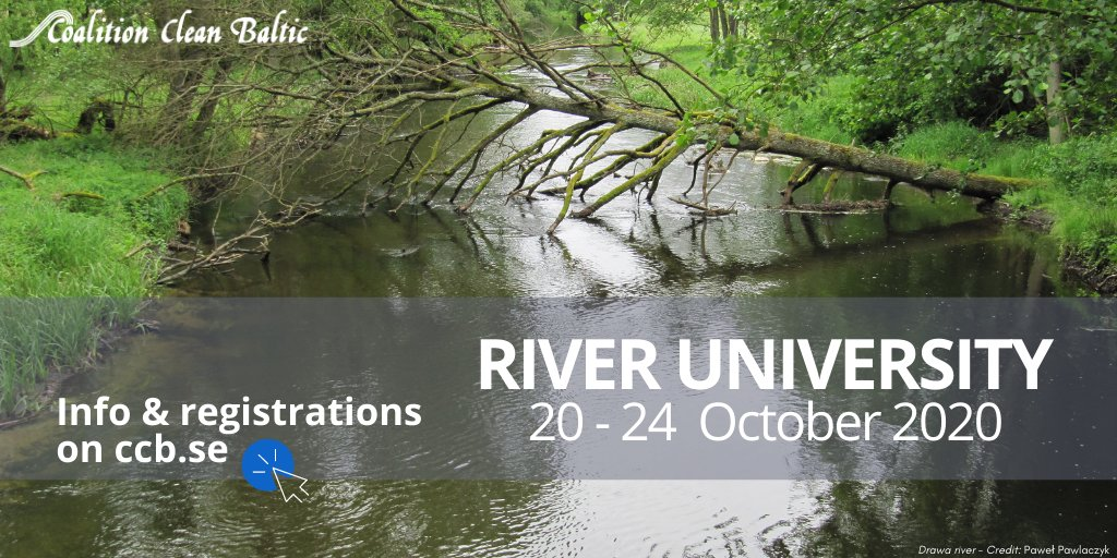 The 1st edition of #CCB River University will be held in #Poland on 20-24 October 2020! To adapt to Covid-19 restrictions, some of our #lectures will also be online.💻 Info & program: https://t.co/ucdtSkiOqr  Register by 30 September! #river #protectwater https://t.co/9cDibl8mqA