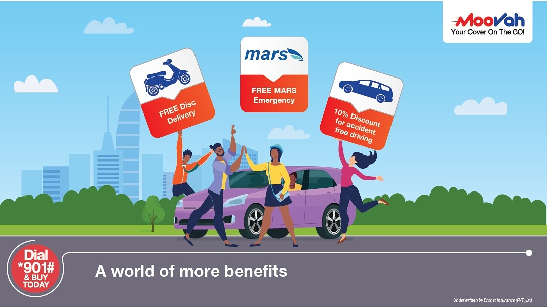 Drive into a world of more convenience and enjoy added benefits with Moovah. Insure your vehicle and get 10% discount for accident free driving, MARS Emergency Ambulance services and so much more.  @MoovahZim #WorldOfMoreBenefits #InsureWithMoovah https://t.co/AWDQ1ube0n