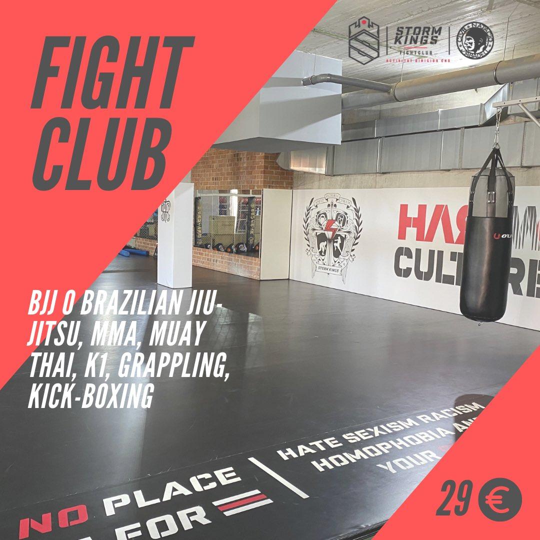 👉🏼‼️🥊Has provat el #fightclub? Un activitat altament desestressant que ara pots fer al club per 29€ al mes. I recorda pots fer-te soci amb MATRÍCULA GRATUÏTA I NO PAGUIS QUOTA FINS OCTUBRE #somcnsabadell @storm_kings.fc https://t.co/Lk4mtzfaB1