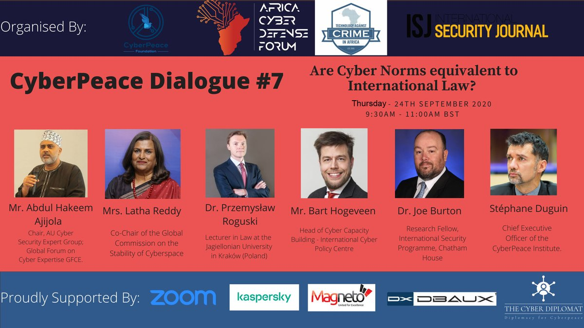 Are Cyber Norms equivalent to International Law? Please Register to Participate in this discussion: https://t.co/KtQyZwhQAf  Time: 2:00 PM - 3:30 PM IST  Location: Zoom Webinar   #CyberNorms #Cybersecurity https://t.co/xNLdq4Rq8w