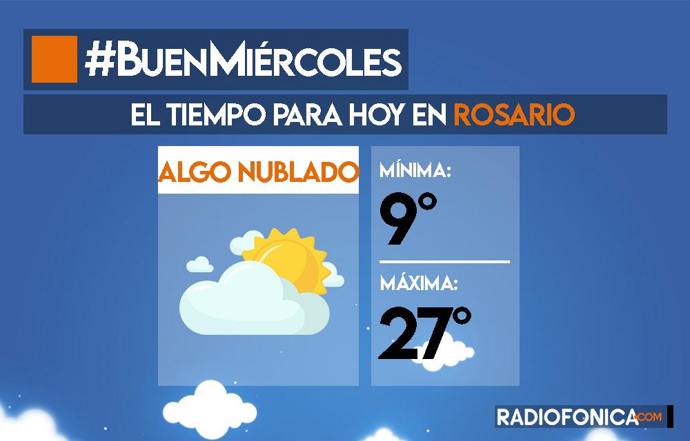 #BuenMiércoles ¡Mitad de semana! 💪 Hoy nos espera una jornada con cielo algo nublado ☁️ y una máxima de 27 grados 🥵 . #Radiofonica https://t.co/N7fxGh65p4