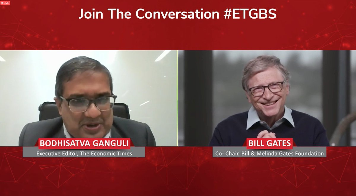 My fav Bill Gates speaking about how the Pandemic was fought in different countries. Let's hear what he has to say. #ETUnWired #ETGBS @ET_GBS https://t.co/M0hTYuFHuC