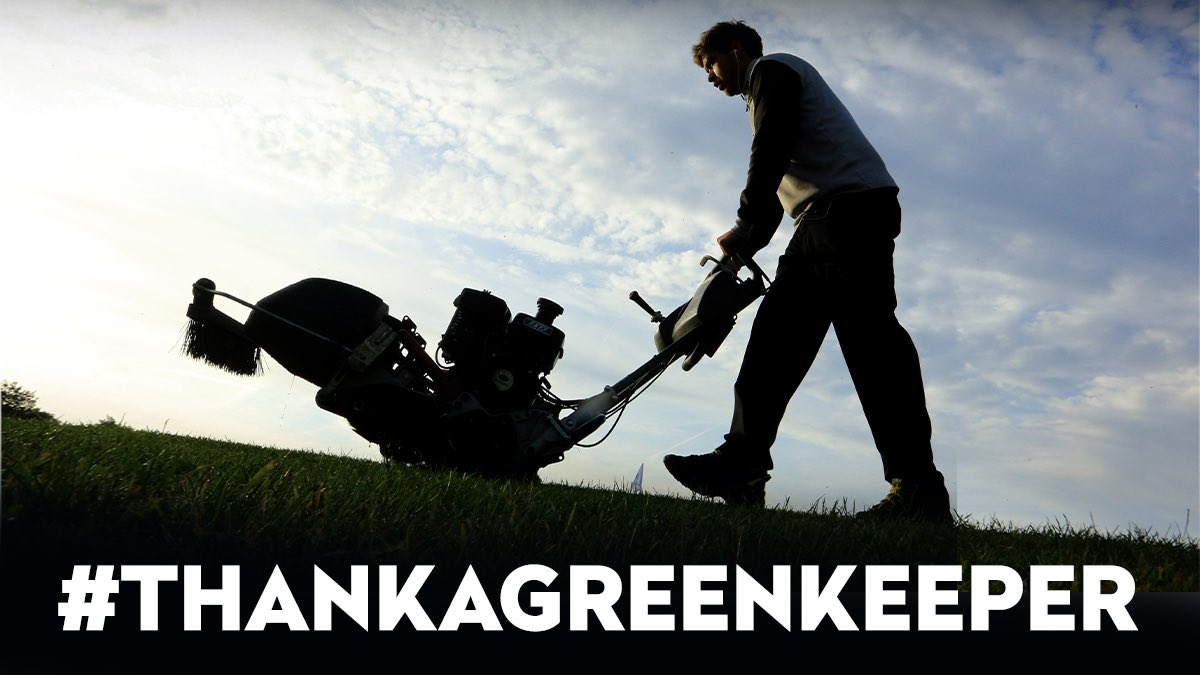 Today is #ThankAGreenkeeper day⛳️ If you are playing today, take a photo and use #ThankAGreenkeeper to show your appreciation 🏌️‍♂️🏌️‍♀️ https://t.co/6Pqd66zSxR