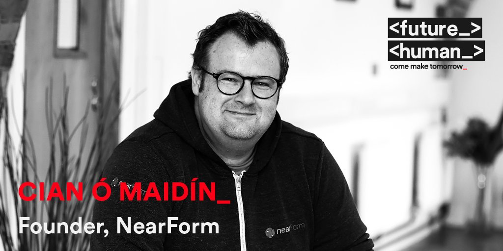<SPEAKER ANNOUNCEMENT_> @Cianomaidin is the founder & CEO of @NearForm the company behind Ireland's Covid Tracker app, where he leads a vocational team of world-class developers & open source contributors across 21 countries.  #FutureHuman 29-30 Oct 2020 #ComeMakeTomorrow https://t.co/cdO8hCwBcY