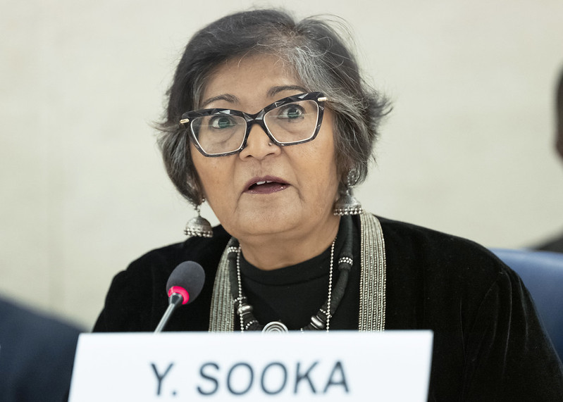 "#HRC45  @UNCHRSS Chair, Yasmin Sooka: ""In #SouthSudan lives are destroyed by #corruption. Looting & pillage aren't just offshoots of war – they are arguably the main drivers of the #conflict. #COVID19 tops this of, exposing structural inequalities."" https://t.co/Phx2mseien https://t.co/q1MndnuJJY"