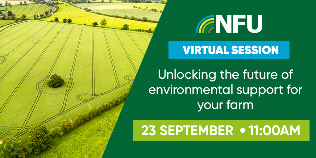 Are you ready for #NFULive? At 11 am, NFU Vice President @ProagriLtd, NFU Head of Policy Services @BinnyGraham and NFU Senior Countryside Adviser @ClaireR99 will be answering your questions about future environmental support. NFU members can join in here https://t.co/izkGSmTwDe https://t.co/usVimpSTMD