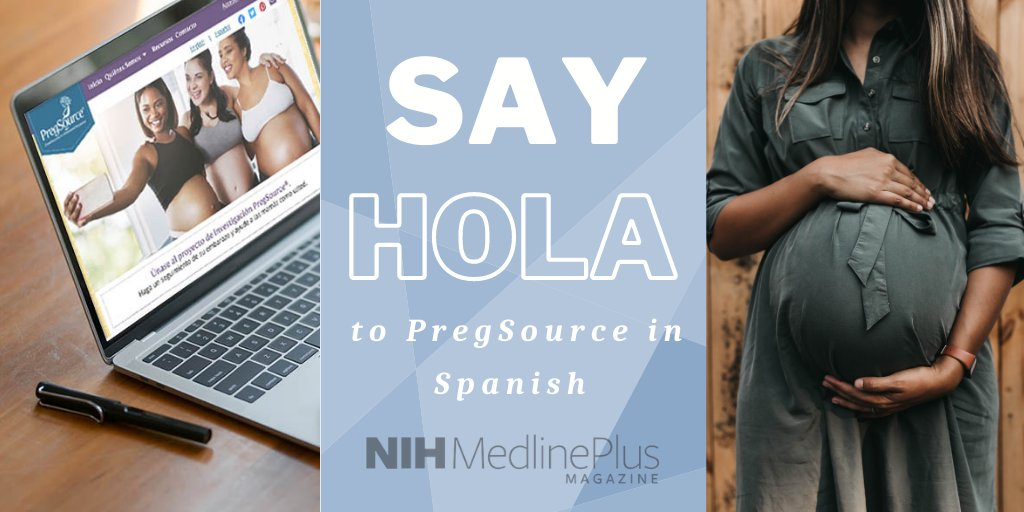 If you want to help #researchers better understand #pregnancy, check out @NICHD_NIH's PregSource – now available in Spanish. https://t.co/ATmfWxgkoU https://t.co/BmjZJgnYQk