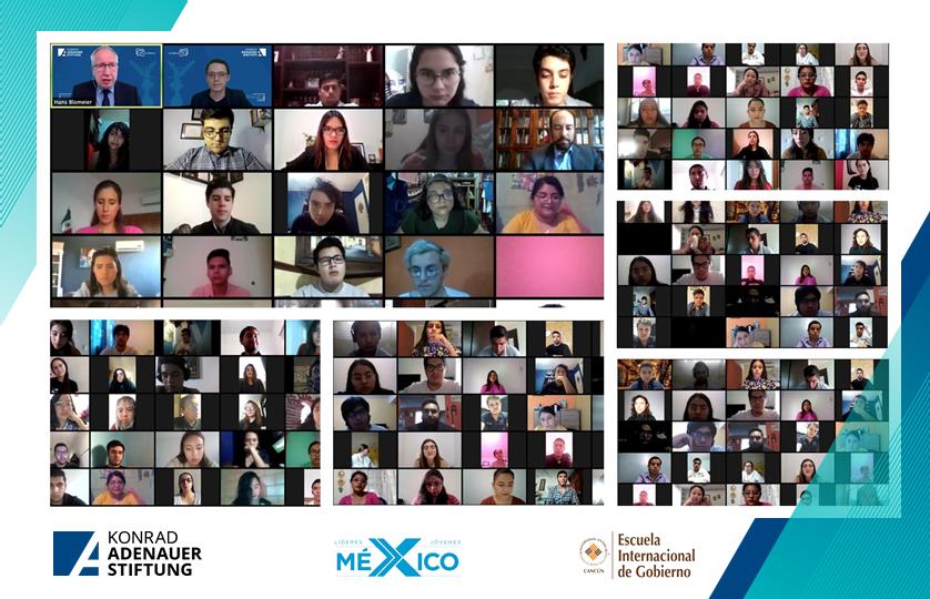 """1/2💡 ¡Sin duda México 🇲🇽 tiene cara joven!   🎉 ¡Felicidades a las y los jóvenes seleccionados al Programa Internacional 👉""""Liderazgo joven para la transformación social""""!   ¡Les damos la más cordial bienvenida! #KASMéxico 🇩🇪🤝🇲🇽@AnahuacCancun https://t.co/HPqnLMjFXU"""