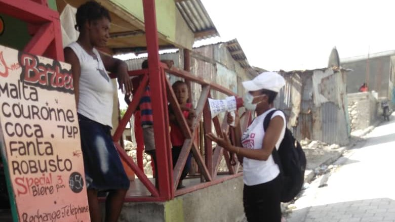 Significant support was given to the population of Jérémie, Haiti🇭🇹 in communicating the health measures in response to #COVID19.  Youth associations, together with the Ministry of Health & the Municipality of Jérémie, were involved in these awareness campaigns. https://t.co/9tkqf0ADx4