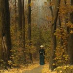 Image for the Tweet beginning: On a Forest Path 1883