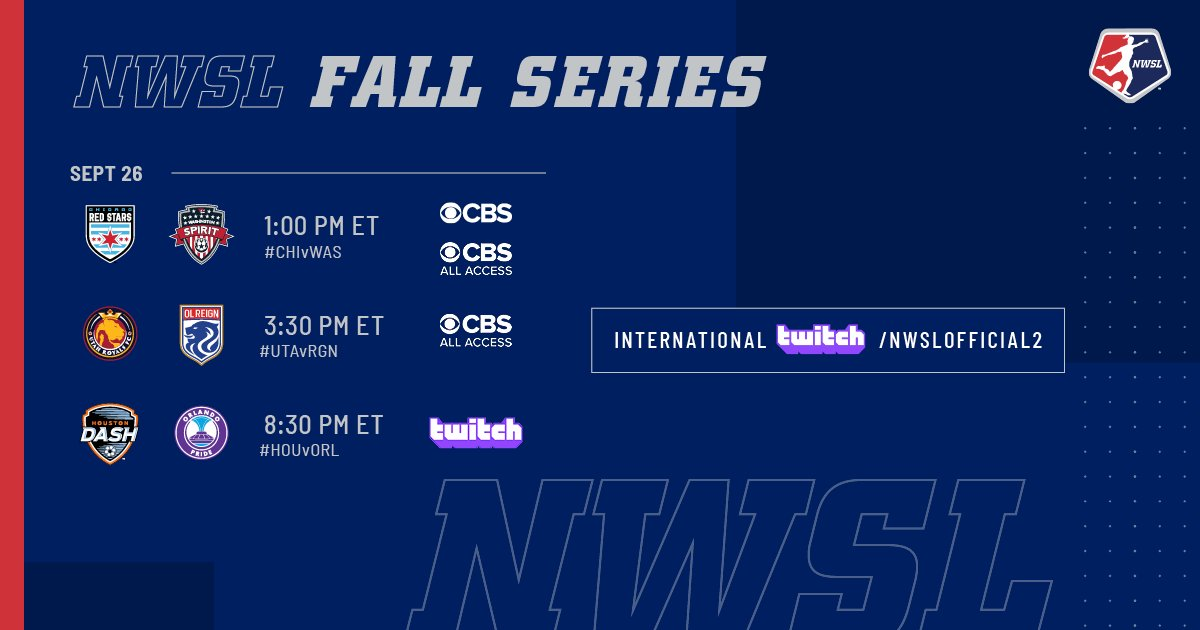 Todays plans sorted 😏 #NWSLFallSeries | #VerizonCommunityShield