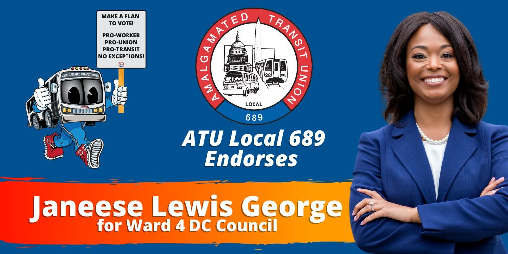 Were proud to join @DCLabor in endorsing @Janeese4DC. JLG hasnt even joined the council yet but is already changing this city for the better. Her primary win sent a strong message to the DC Council. We need a city that puts working people first.