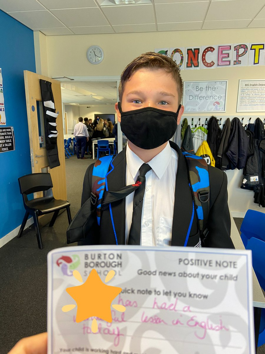 Positive note of the week for this young man in his English lesson today! Fantastic contribution to the lesson! Well done 👍 https://t.co/5PSgEcsngy