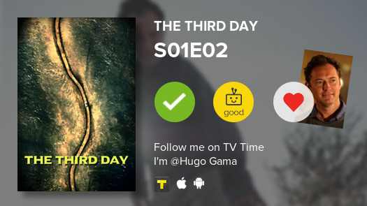 I've just watched episode S01E02 (Saturday – The Son) of The Third Day! #thirdday  #tvtime https://t.co/0pM0Cw4sZu https://t.co/65xIHtwdxt