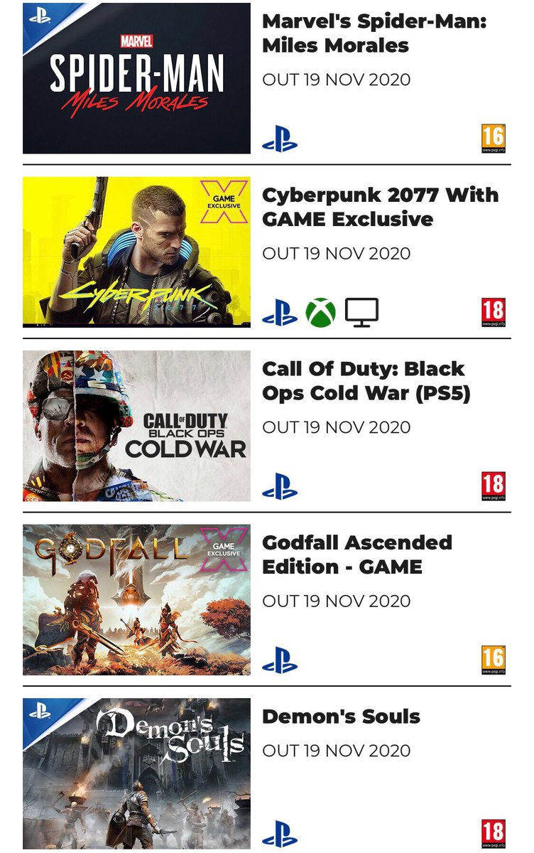 #Cyberpunk2077 & #CallOfDutyBlackOpsColdWar are some of the games left to come out this year!  Preorder now for either current gen or next gen #CheaperWhenYouTradeInAtGAME https://t.co/wpnjrC1vjj