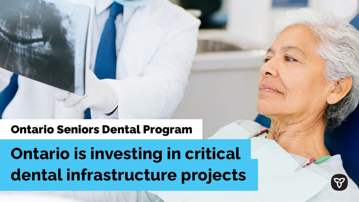 #ICYMI: Ontario is expanding access to the Seniors' Dental Care Program by supporting 78 infrastructure projects, including investing in new, renovated and mobile dental clinics. https://t.co/ZcbaTLmMWQ #SeniorsDental https://t.co/YL7xOHfSyG