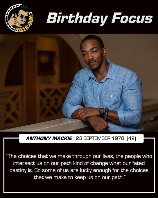Happy 42nd birthday to Anthony Mackie!  Who is excited to see him in The Falcon and the Winter Soldier?