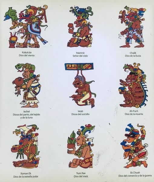"""Ο χρήστης Crónicas de Banqueta στο Twitter: """"Principales dioses mayas Ah  Mun, dios del maíz Ahau Kin, dios sol Ah Muzenkab, dios de las abejas y  miel Bolon Dzacab, dios relacionado con"""