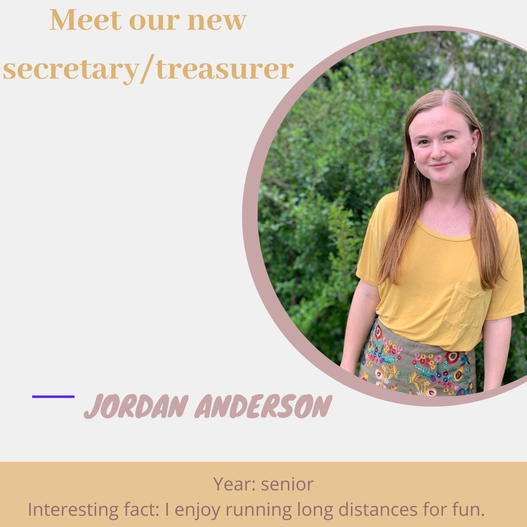 This year's Secretary and Treasurer, Jordan Anderson!! https://t.co/nMBoApgnDd