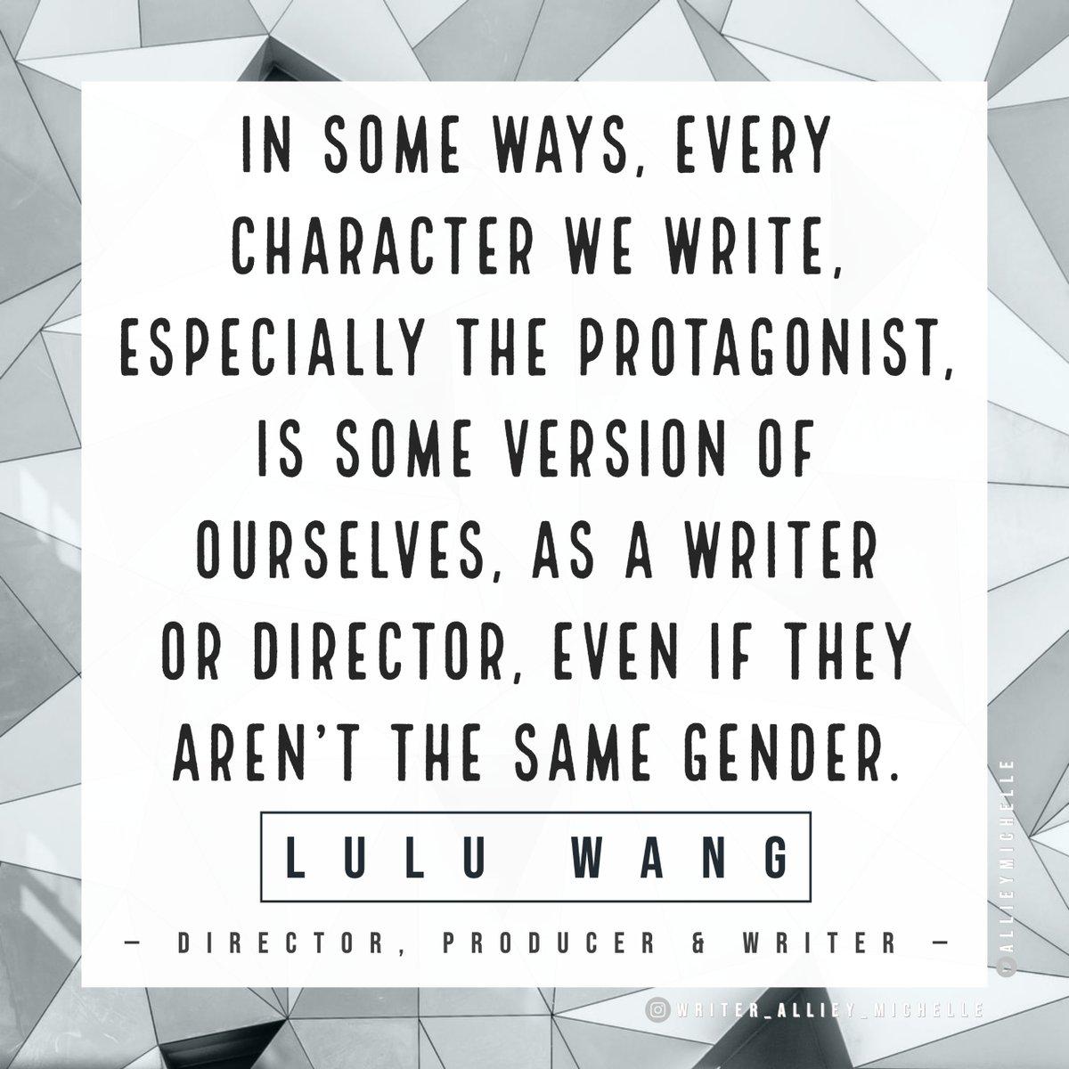 "#WednesdayWisdom courtesy of Lulu Wang (@thumbelulu), best known for ""Posthumous"" (2014), ""Touch"" (2015) & ""The Farewell"" (2019).  #QOTD #quotestoliveby #wordsofwisdom #writer #writingcommunity #writingadvice #writing #WomenInFilm #FemaleFilmmakers #directedbywomen https://t.co/kbgaY55jkL"