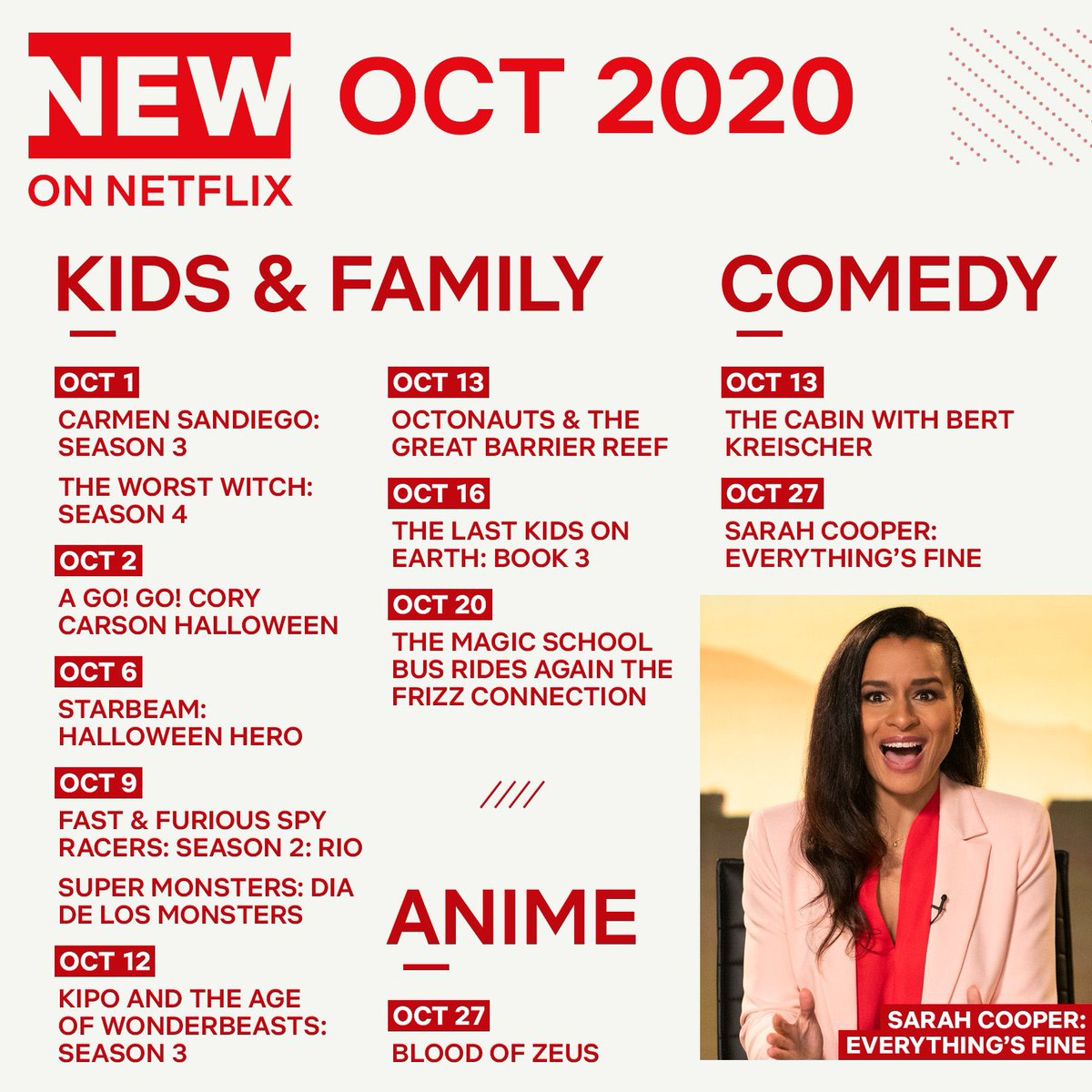 Here is the what's coming up in Netflix this October 🥁📢 https://t.co/QmU5OXRsyV