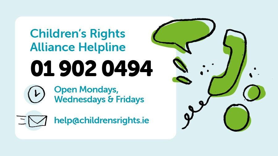 If you are concerned or unsure about your child's rights, or you are looking for legal information on a particular issue, contact our Helpline team today.  The phone line is open until 7pm but you can email the team anytime and they will get back to you: help@childrensrights.ie https://t.co/yYjxwKOdEt