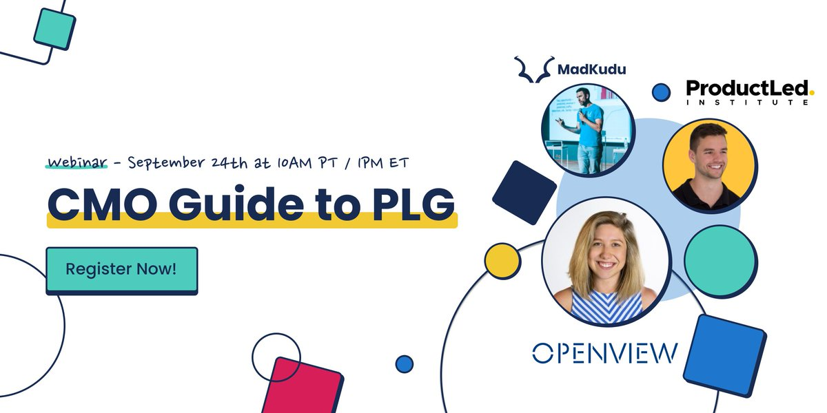 Join OV's Director of Growth @SamCRichard tomorrow for a webinar you won't want to miss. Whether you're new to #PLG or looking to optimize your #productledgrowth #GTM efforts, this webinar is for you.  Sign up here 👉 https://t.co/khTjmdmEID https://t.co/acj2nycCjm