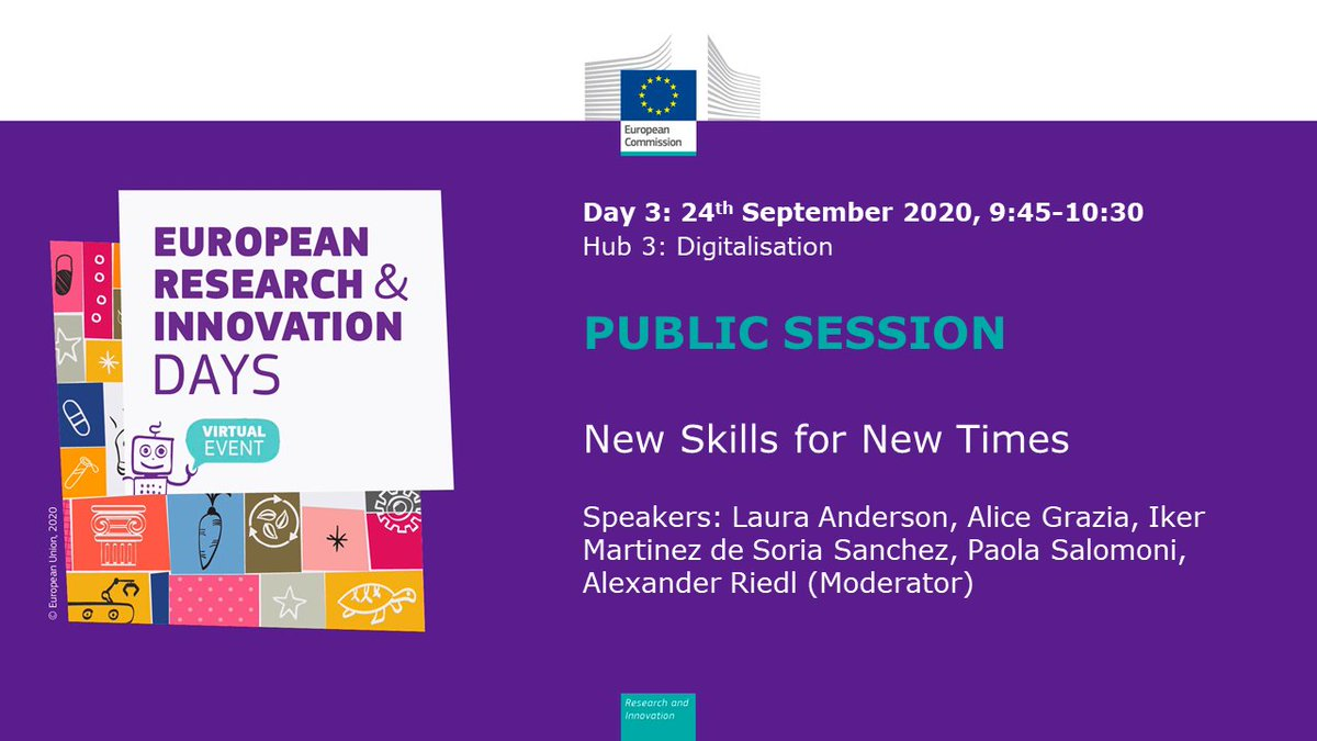 Interesting 'New Skills for New Times' session at #RiDaysEU this morning! Don't worry if you missed it, you can still watch the recording #DigitalSkills #SkillsGap #DigitalEU #HPC #AI #Employment #STEMcareers #STEAM #GirlsWhoCode #GirlsinSTEM #Tech #Training #Innovation #TechEd