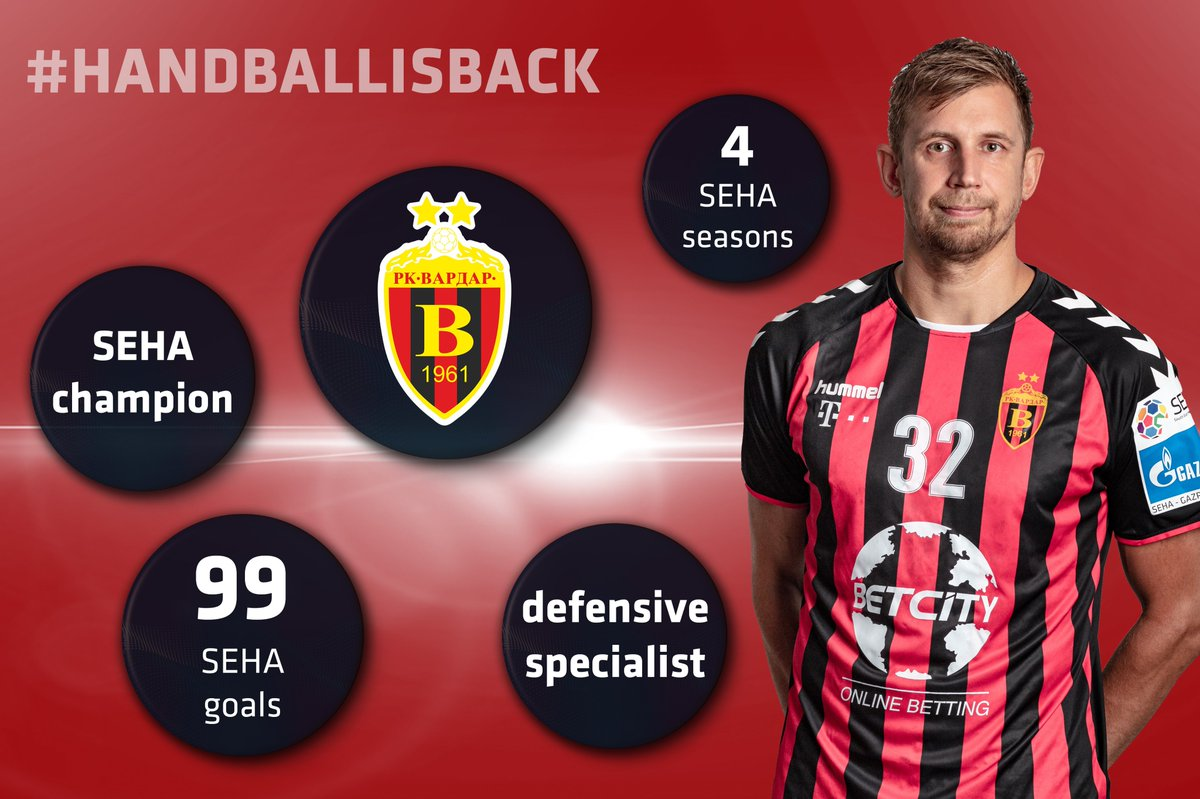 Russian back-shooter with a pure cannon for an arm Sergei Gorbok 🤾♂️ also said goodbye 👋 to his handball career!   And this is his #SEHA journey 🔴⚫  #SEHALeague #Gazprom #experiencehandball https://t.co/gOToweajx3