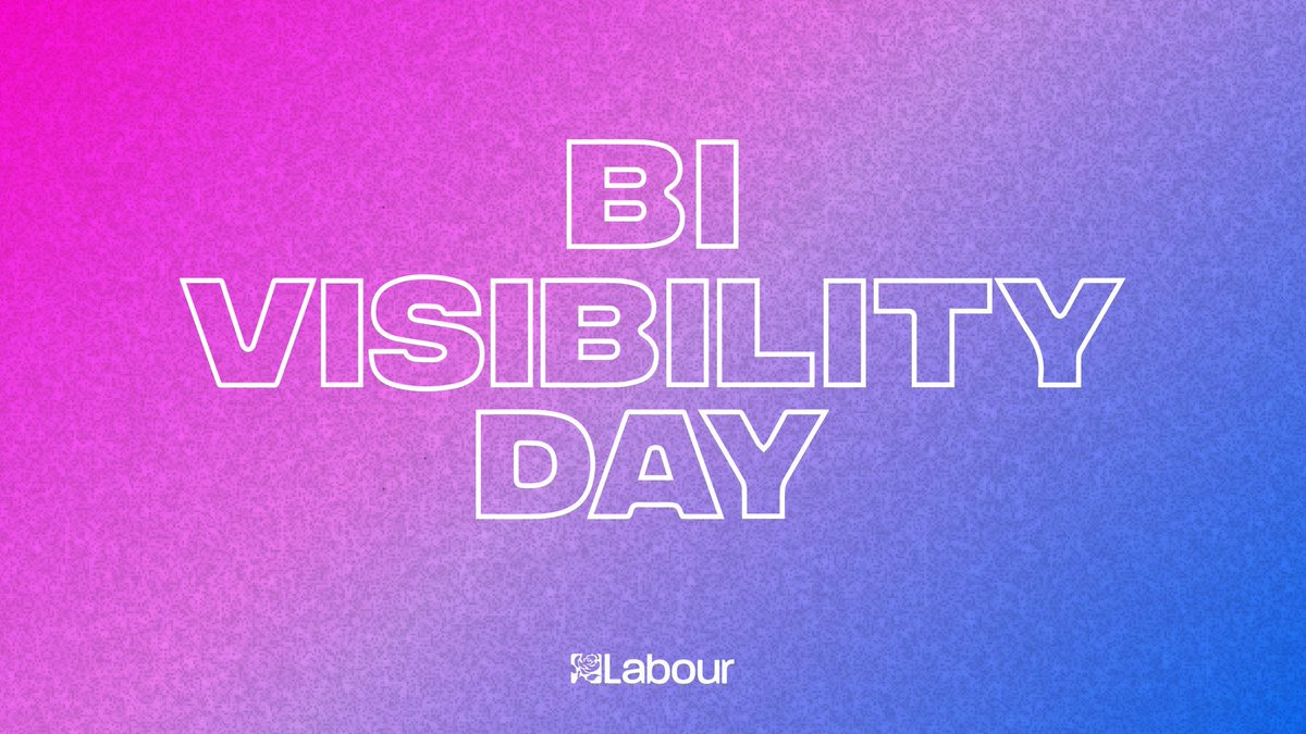 Happy #BiVisibilityDay to the bi community, from all of us here at Labour.  LGBT+ rights are human rights, and we're proud to stand with the LGBT+ community. https://t.co/mCuTvvVoBm