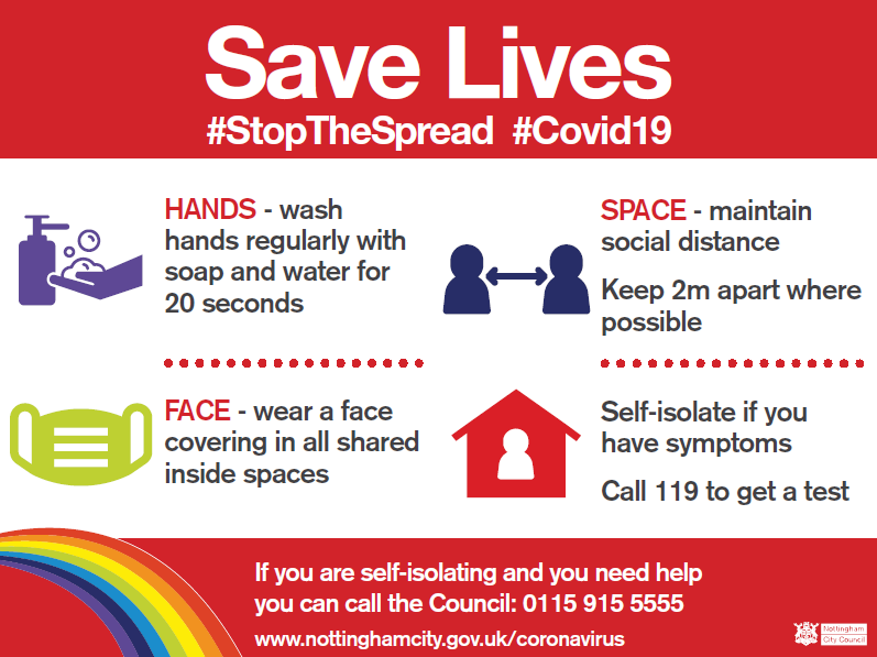 We need to do whatever we can to protect each other and help #StopTheSpread #SaveLives  These are the 3 most effective ways to control the spread of #Covid19  🧼 Wash your hands 😷 Wear a face covering ↔️ Make space  🤒If you have symptoms visit ▶️ https://t.co/NHNtgZ3DEE https://t.co/Quvv5ecPFC