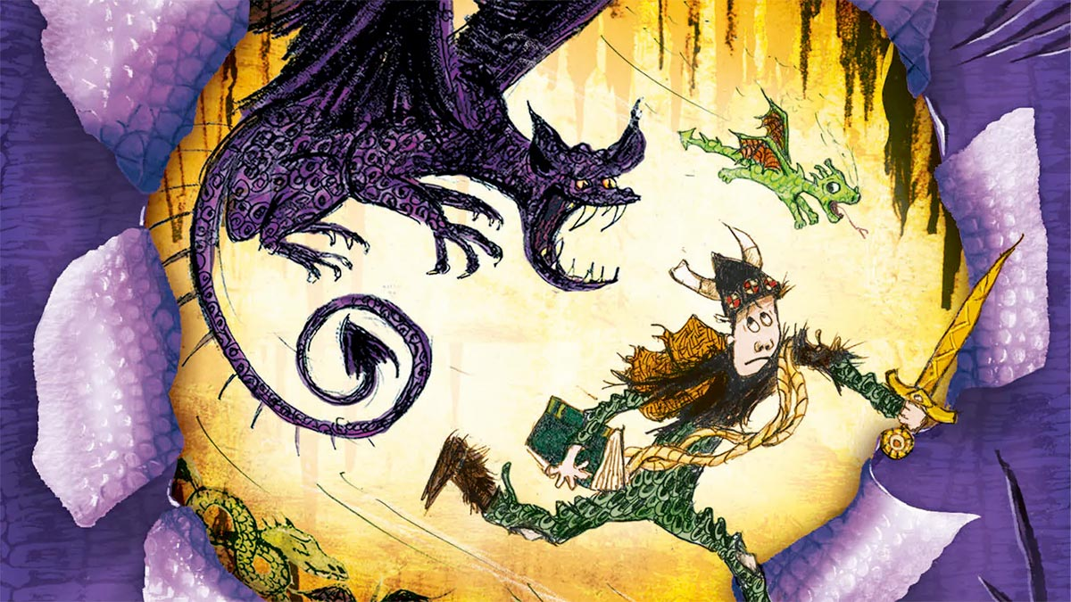 YES: the next chapter of A Hero's Guide to Deadly Dragon read by Cressida Cowell (direct from her shed) is now available on #BookTrustHomeTime. It's the perfect lunchtime treat: https://t.co/uoYIy4fucr https://t.co/zWiGSzMvdD