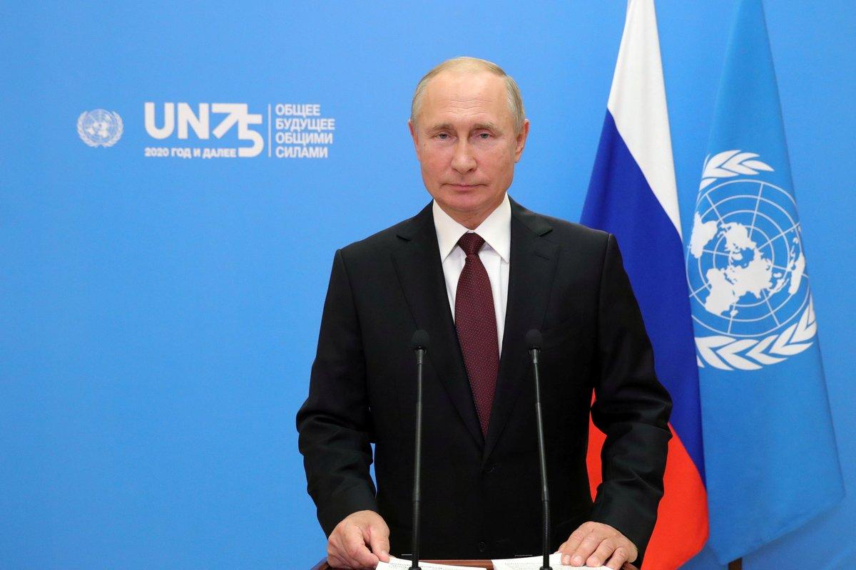 Putin ofereix la vacuna russa, Sputnik V, de forma gratuïta a les Nacions Unides i proposa la cooperació entre països per desenvolupar-ne d'altres per fer front a la pandèmia del coronavirus https://t.co/MUFVk1YNqN https://t.co/demdI0QQ1p