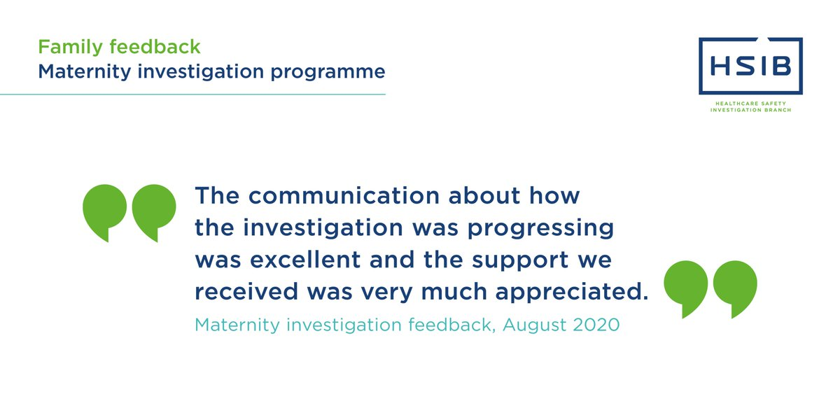 We encourage patients and families involved in our investigations to share their views, so that we can improve. One way to do this is by completing our online feedback form. If you've been involved in an investigation, please tell us how it went >> https://t.co/W3TadJ6SUw https://t.co/xe8XxAWvrF