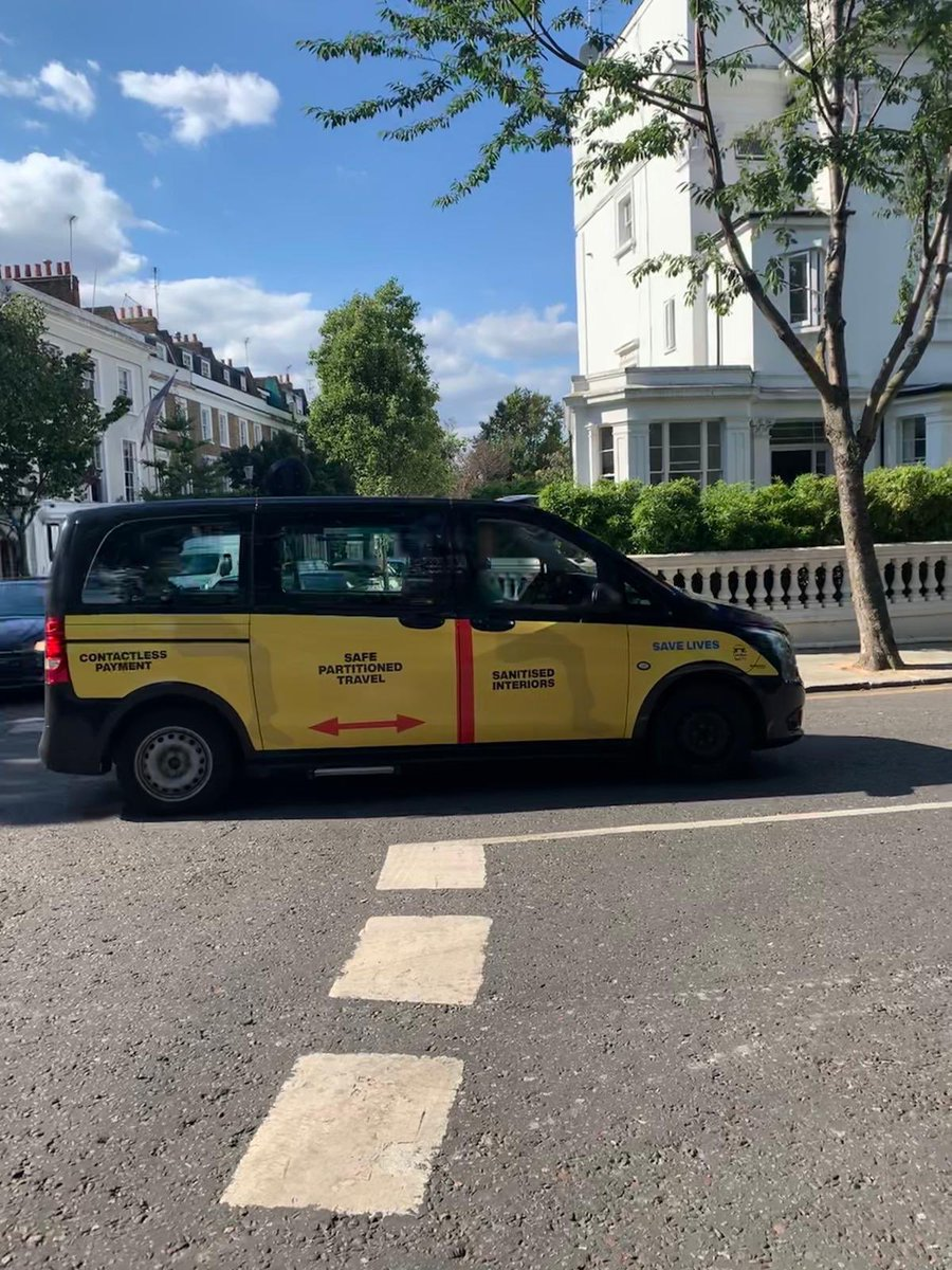 TRAVEL IN CONFIDENCE !   London Taxis are the safest form of public transport with their separated passenger area, partitioned screen, 2m distance between driver & passenger,  plus fully sanitised interiors for safer journeys & contactless payment system.   Hail yours today ! https://t.co/4CoZr1LZO0