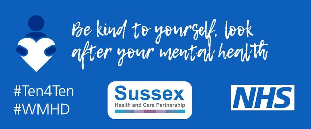 #Worthing #MentalHealthAwarenessWeek are proud to be supporting @WMHDay #WorldMentalHealthDay #ten4ten Campaign with @withoutstigma  https://t.co/TGKg1WBQLZ #WednesdayWisdom @HeadsOnCharity @WestSussexCCG @SHealthline https://t.co/nDIOK63C1W