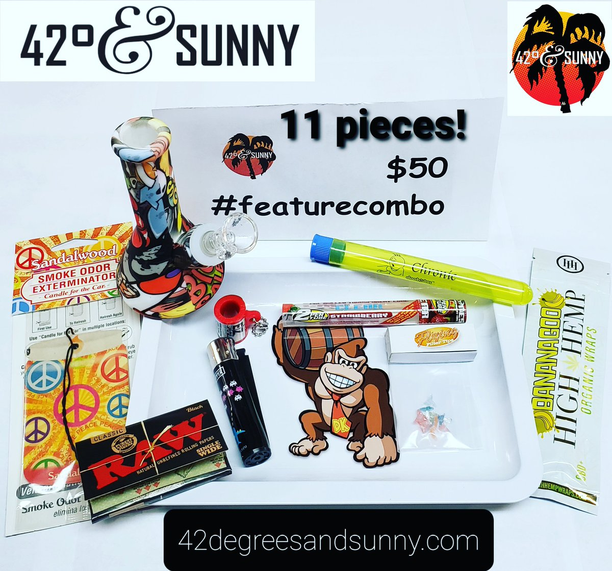 #humpday #featurecombo 📣11 pieces for $50!📣 #waterpipe #glassscreens #rollingtray #ezsplitz #doobtube #clearcones #highhempwraps #clipperlighter #rawrollingpapers #filtertips #smokeodorexterminator #smokingdeals on #smokingaccessories #420andsunny #42degreesandsunny https://t.co/osIPVZaFNc