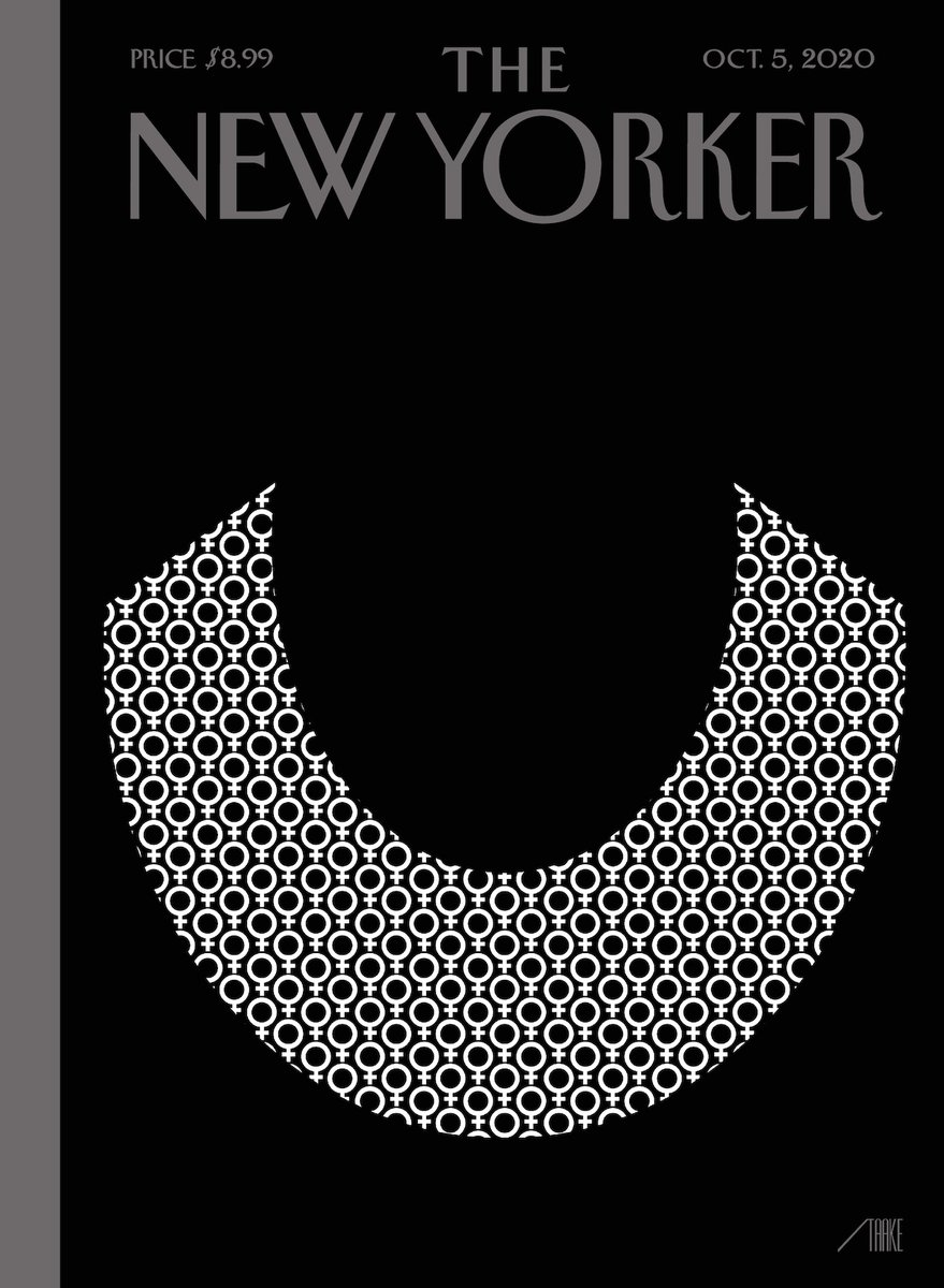 """An early look at next week's cover, """"Icons,"""" by Bob Staake: https://t.co/A5tV6Kgww6 https://t.co/uctpx9qJcF"""