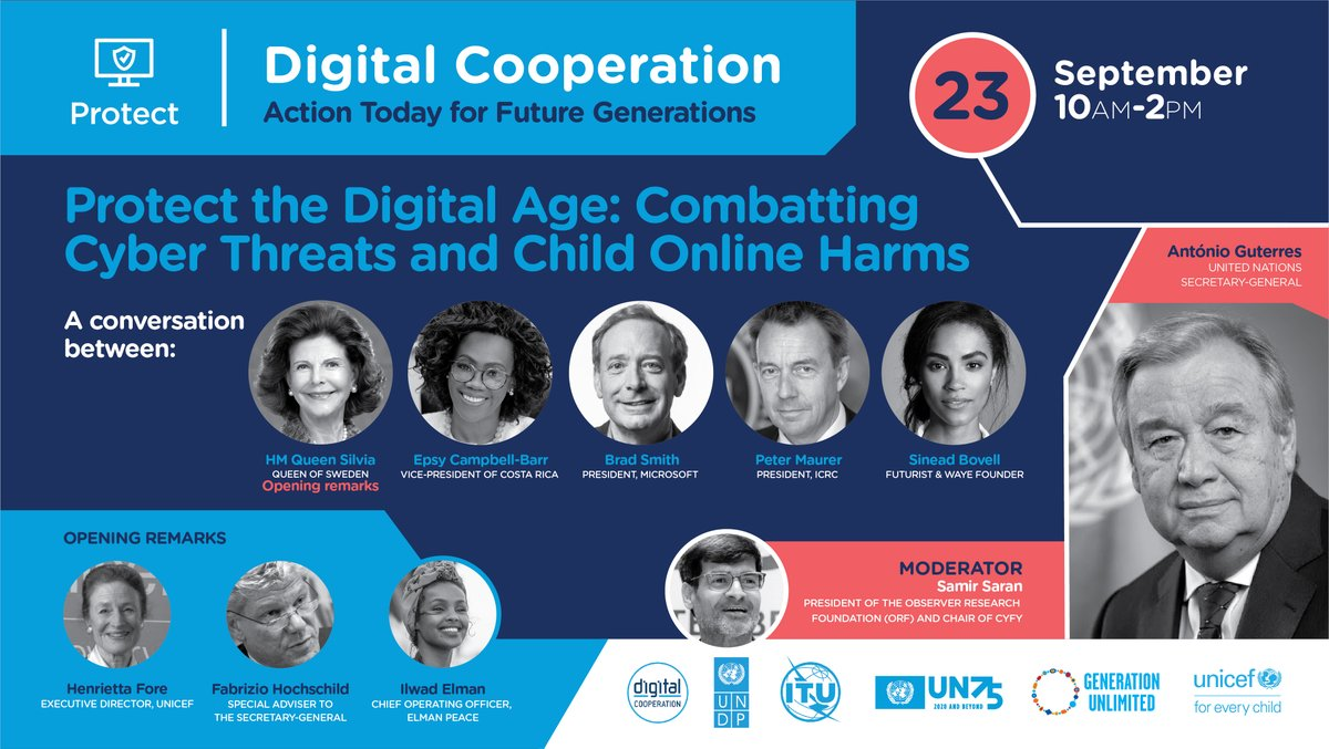 Cyberattacks, disinformation, & online abuse have become everyday hazards for everyone, especially young people. #UNODC promotes sustainable capacity building for a long term #DigitalCooperation: https://t.co/p4Fxghalv2 🔴https://t.co/aUy5Jbq4wz LIVE today at 16:00 CEST.  #UNGA75 https://t.co/pRMMo58Kxq