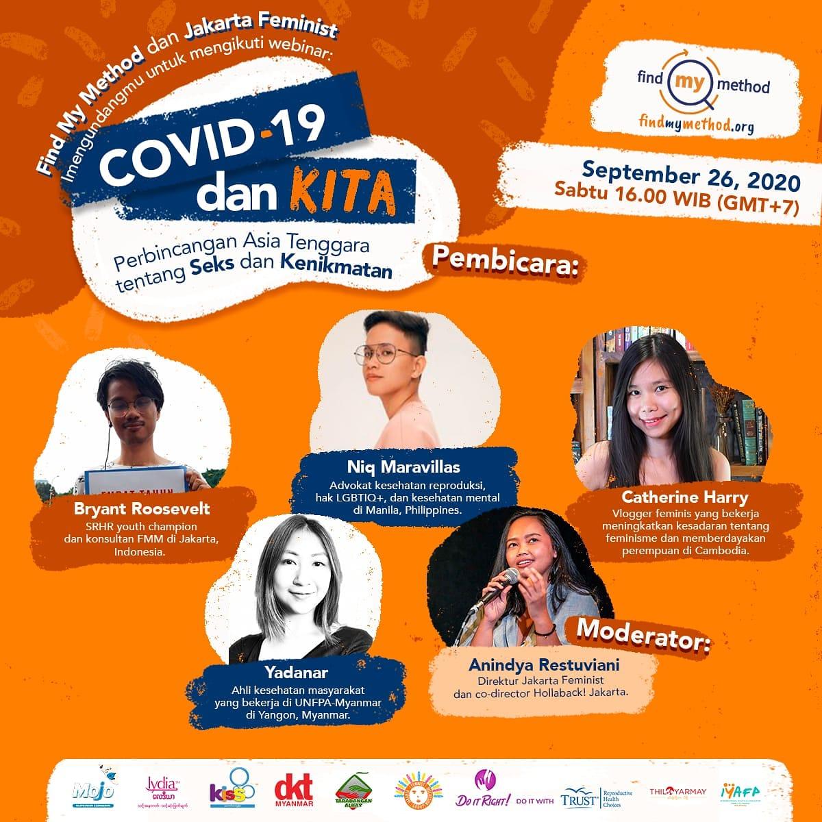 Bagaimana pandemi COVID-19 telah mempengaruhi kesehatan seksual di Asia Tenggara? Yuk ikut perbincangan seru ini, dengan pembicara dari Indonesia, Malaysia, Filipina, dan Kamboja!   Hari : Sabtu, 26 Sep 2020 Jam :16.00 WIB  Jangan lupa registrasi di https://t.co/PPOXn21YZJ ya! 😊 https://t.co/DVNQxKNi1k