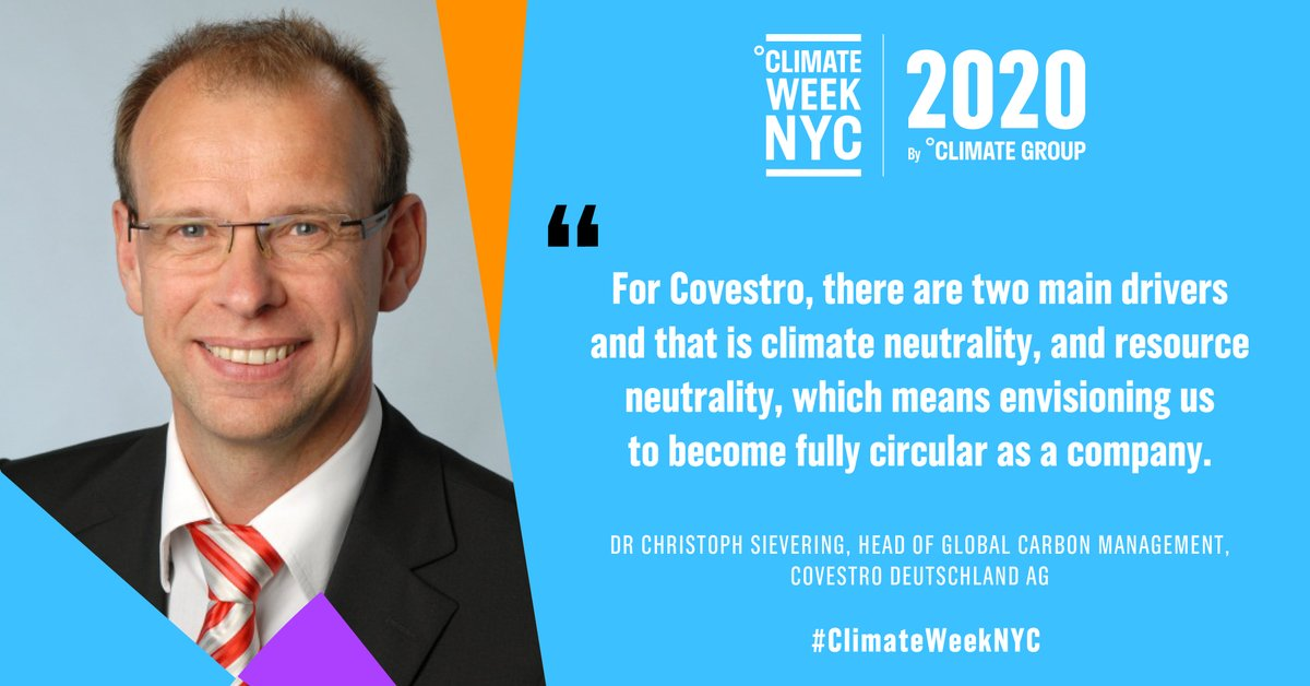 Dr Christoph Sievering goes onto explain what drives @covestro to be a sustainable business and an @IN4climateNRW partner. #ClimateWeekNYC https://t.co/I9FxoIQBJh