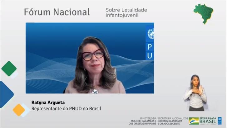 A representante residente do #PNUD no Brasil, Katyna Argueta, abre o Fórum Nacional sobre Letalidade Infantil, promovido pelo @DHumanosBrasil  Acompanhe online: https://t.co/cEJXJJcsXh https://t.co/sNy9LErm6c