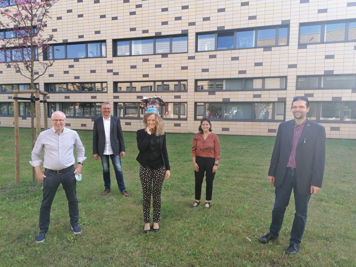 """Yesterday Claudia Matassa successfully defended her #PhD thesis, entitled """"Investigation of high molecular weight amine donors for the process intensification in chiral amine synthesis with transaminases"""" with magna cum laude. Congratulations! 👏👏 https://t.co/cInCVD3Std"""